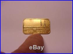 1 Oz. Pamp Suisse Gold Bar Religious Ka'Bah Mecca Antique