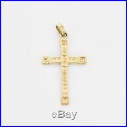 10k Yellow Gold Antique Ornate Cross Pendant