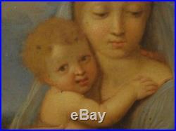 16th 17th Century Italian Old Master Madonna & Child Antique Painting RAPHAEL