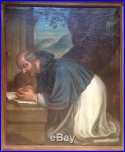 16th-17th century Antique oil painting Portrait of a Religous Italian School