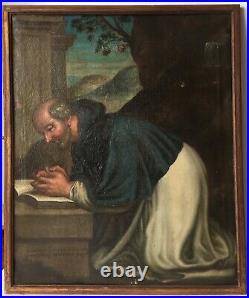16th century Antique oil painting Portrait Religous Italian School To Restore