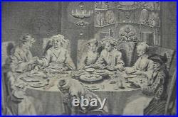1725 Engraving Passover Seder PICART Bernard Judaica Rare Old Jewish ART antique