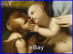 17th 18th Century Italian Old Master Madonna Baby & St John Antique Oil Painting