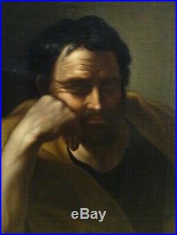 17th Century Italian Old Master Saint Philosopher Portrait Antique Painting