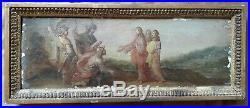 17th Century Old Master Antique Oil on Panel Jesus Italian Religious Jerusalem