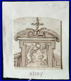 17th. Century Old Master Drawing Provenance 1600s Religious Architecture Italian