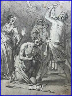 17th Old Antique Drawing FREISTENAUER Beheading of John the Baptist
