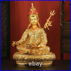 18 Tibetan Buddhism bronze gilt Religious rites Padmasambhava Buddha statue