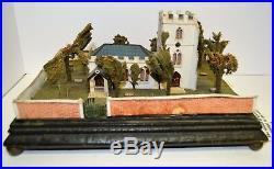 1842 Folk Art Miniature Cumberland Church Yard England Sculpture ABFA Antique