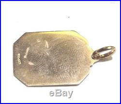 18k yellow gold Jesus pendant charm 3.9g estate vintage antique womens ladies