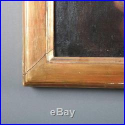 18th Century Antique Oil on Canvas Portrait Painting of the Madonna & Child