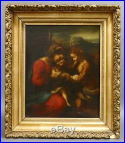 18th c. MYSTIC MARRIAGE ST CATHERINE Spanish Madonna Religious Oil Painting