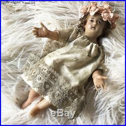 1900's French Baby Jesus Wax Child Christmas Doll Religious Virgen