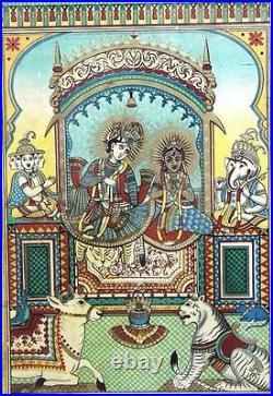 1900s Antique Hindu Religious GLASGOW GRAHAM KARACHI Litho Print #363