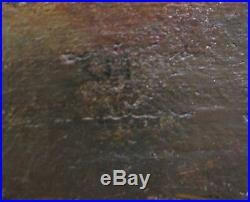 19th C. Antique Oil Painting Signed I. HUGHES Boston Pinxit 1878