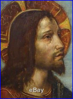 19th Century Pre Raphaelite Classical Jesus Christ Portrait Antique