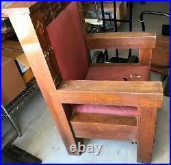 2 Antique Vintage Church Prayer Chair Arts Crafts Mission Altar Religious Gothic