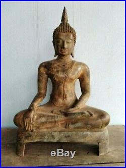 24 Big Buddha Sukhothai Period Thai Religious Rituals Respect Meditation RARE