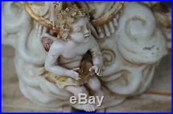26.7 italian pattarino school madonna Statue putti angel religious terracotta