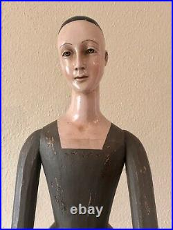 30 tall Hand-carved Wooden Santos Cage Doll Religious Or Decorative