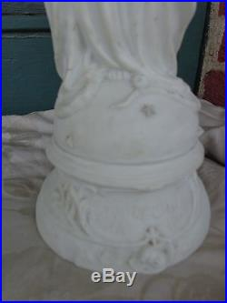 ANTIQUE VICTORIAN 19thC IMMACULATE CONCEPTION MARY RELIGIOUS PARIAN WARE STATUE