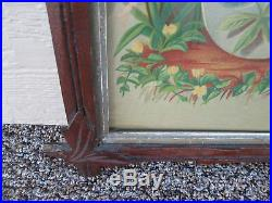 ART 15 Antique Framed Victorian Print Picture Christ is our Hope