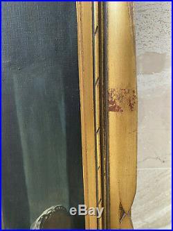 After Gustav Adolf Kuntz Ein Gruss aus der Welt, Oil Painting Antique