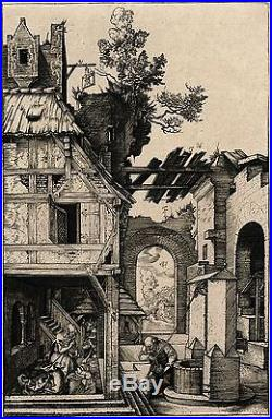 Albrecht Dürer (1471-1528) The Nativity & Original Antique Etching/Engraving
