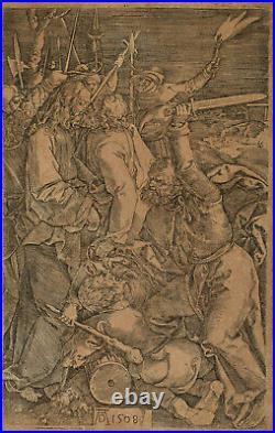 Albrecht Dürer 1508 (after), Jesus Christ, Judas kiss, antique 17th c. Engraving
