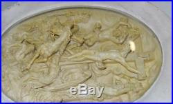 Amazing Intricately Carved Antique Meerschaum Plaque The Crucifixion Religious