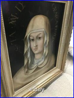 Antique 1600s Oil On Wood Religious Sibyl The Most Amazing Peice Of Art