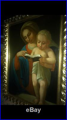 Antique 17th/18th Century Madonna and child painting