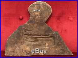 Antique 18th Century Religious Painted Wood Board Icon Mary