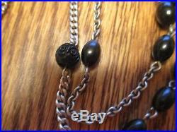 Antique 84 Dominican Nun's 15 Decade Rosary No Center Religious Medal Lot #b6
