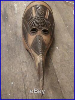 Antique African Religious Tribal Bird Mask Kono Mali
