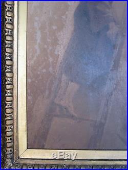 Antique American Master Johannes Oertel Religious Painting Washington DC Frame