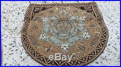 Antique Ave Maria French Gold Metallic Embroidery Roses Stumpwork Religious Cope