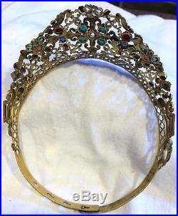 Antique Bejewelled French Religious Tiara/ Crown