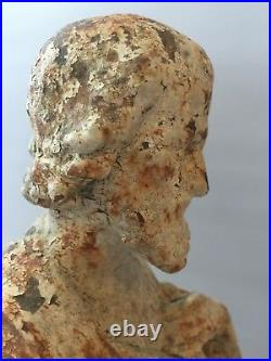 Antique Cast Iron Religious Figure Of Saint Joseph