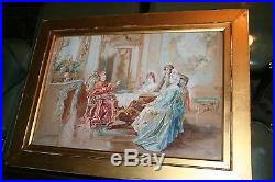 Antique Catholic Cardinal Watercolor Painting by Michaud