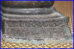Antique Chinese Asian Bronze Metal Buddhist Religious Spiritual Statue WithWings