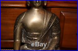 Antique Chinese Buddhist Buddha Bronze Brass Metal Religious Spiritual Statue