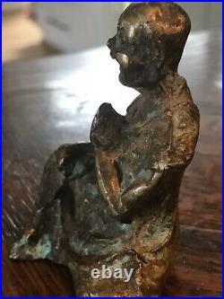 Antique Chinese Caste Bronze BUDDHA Buddhism Religious Relic Artifact