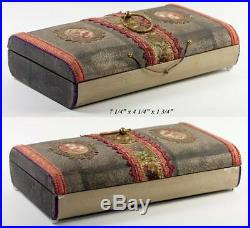 Antique French Chocolate Box, Confectioner's or Chocolatier's Casket, Religious