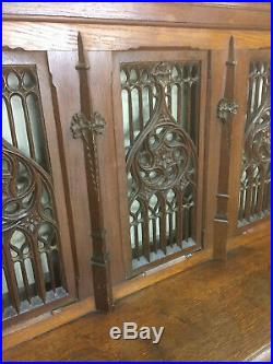 Antique French Gothic Church Kneeler Altar Railing, Religious, 19th Century, Oak