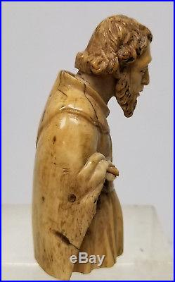 Antique German European Carved 18th Century Renaissance Religious Icon Figure