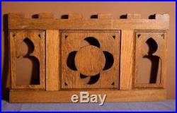 Antique Gothic French Oak Wood Religious Panel IHS Logo/Symbol