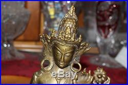 Antique India Hindu Religious Spiritual Figure Avalokiteshvara Padmapani-Lotus
