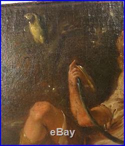 Antique Italian Dutch European Old Master Style Painting Samson Oil on Canvas