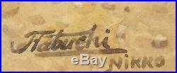 Antique Japanese Watercolor Painting Signed Tabuchi Nikko